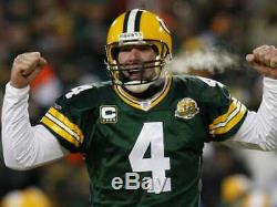 Brett Favre 2007 Green Bay Packers Authentic Home NFL Game Jersey Size 52