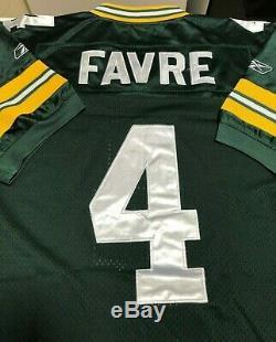 Brett Favre #4 Green Bay Packers Authentic jersey Lambeau Field 50th, Size 48