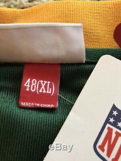 Brett Favre Mitchell & Ness Green Bay Packers 1993 Throwback Jersey Mens Size 48