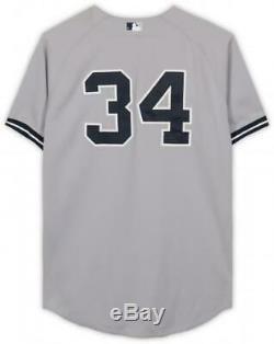 Brian McCann New York Yankees GU #34 Gray Jersey vs Tampa Bay Rays on 9/17/14