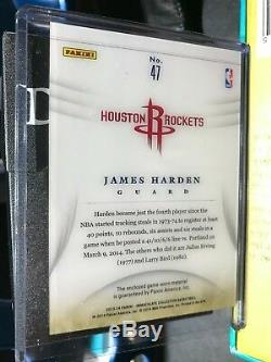Dazzling James Harden 2013-14 Immaculate Game-Worn Jersey Patch 1/13 (E-Bay 1/1)