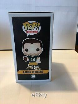 Funko POP Green Bay Packers Aaron Rodgers Green Jersey With Helmet RARE
