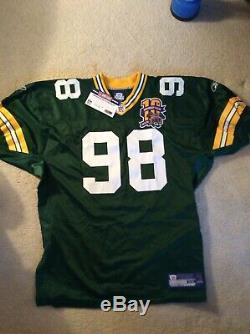 Gabe Wilkins Reebok Super Bowl XXXI Green Bay Packers Anniversary Jersey Size 52
