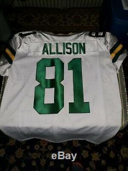 Geronimo Allison Green Bay Packers White Nike Vapor Elite Jersey Size 48