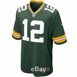 Green Bay Packers Jersey Aaron Rodgers #12 Nike Men's Game Replica NFL Green
