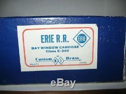 HO Brass NJ Custom Brass ERIE Bay Window Caboose, Excellent