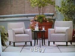 Hampton Bay Aria 3pc Patio Deep Seating Chairs & Table Local Pick Up in NJ