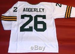 Herb Adderley Custom Green Bay Packers 3/4 Sleeve W Jersey