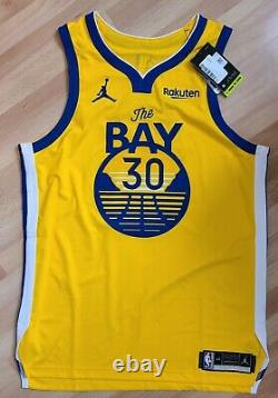 Jordan Golden State Warriors Stephen Curry The Bay Statement Jersey Authentic 48