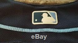 KEVIN KIERMAIER TAMPA BAY RAYS MAJESTIC Flex Base AUTHENTIC HOME JERSEY 52