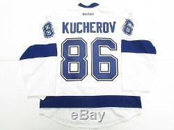 Kucherov Tampa Bay Lightning 2015 Stanley Cup Team Issued Reebok Edge 2.0 Jersey