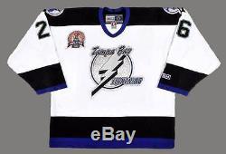 MARTIN ST. LOUIS Tampa Bay Lightning 2004 CCM Throwback Away NHL Hockey Jersey