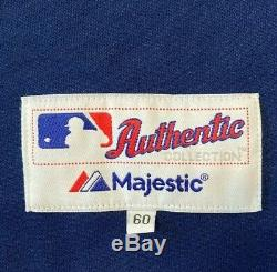 Majestic AUTHENTIC 60 4XL TAMPA BAY RAYS TBTC BLUE ON FIELD Jersey RARE