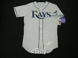 Majestic AUTHENTIC SIZE 44 LARGE, TAMPA BAY RAYS FLEX BASE ON FIELD Jersey NICE