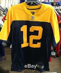 Men's Green Bay Packers Aaron Rodgers Limited Jersey NFL Football XL Alt Navy