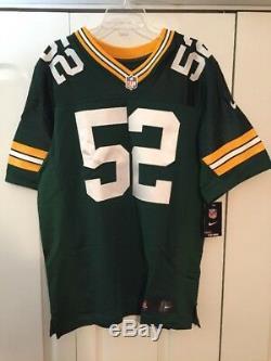 Men's Nike NFL Green Bay Packers Clay Matthews ELITE Jersey Size 48 (468891-325)