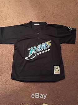 Mens Large Vintage Wade Boggs 1999 Tampa Bay Devil Rays MLB Baseball Jersey