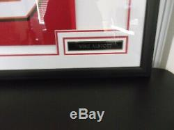 Mike Alstott (A-TRAIN) Tampa Bay Bucs Autographed FRAMED Red Adidas Jersey New
