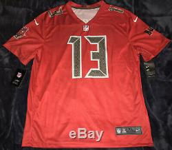 Mike Evans Tampa Bay Buccaneers Red Color Rush Legend Jersey RARE XL