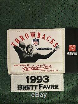 Mitchell And Ness NFL Authentic Jersey Green Bay Packers Brett Favre Size 52 2XL