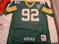 Mitchell Ness M&N Green Bay Packers Authentic Reggie White jersey 52 2XL NWT NEW