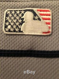 Mlb Tampa Bay Rays Jersey Star & Stripes 4th July Cool Base Authentic Men 44 Lg