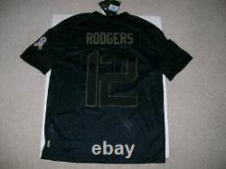 NEW $170 NIKE SZ M Aaron Rodgers Green Bay Packers Salute to Service NFL Jersey