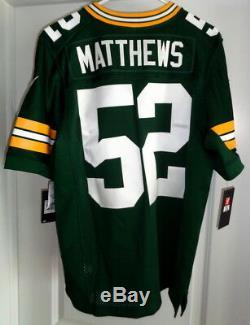 NEW CLAY MATTHEWS NIKE VAPOR ELITE JERSEY Green Bay Packers NFL MEN 40 M $325
