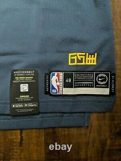 NEW Nike NBA Klay Thompson The Bay City GSW VaporKnit Jersey Sz 48 L AH6209-430