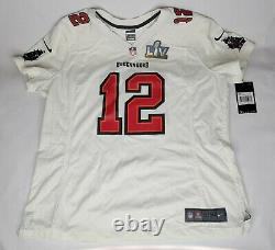 NEW Nike NFL Tampa Bay Buccaneers #12 Tom Brady Super Bowl Womens Jersey XXL 2XL