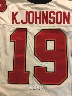NFL Authentic Wilson Tampa Bay Bucanneers Keyshawn Johnson Jersey 56 $300+ Rare