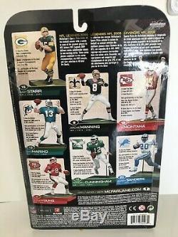 NFL McFarlane Bart Starr Rare Variant White Jersey Green Bay Packers