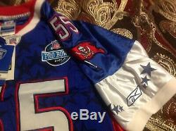 NFL Reebok Tampa Bay Buccaneers Derrick Brooks Pro Bowl Jersey Size 50 NWT