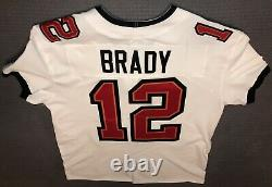 NFL Tampa Bay Buccaneers Nike White Tom Brady Vapor Elite Jersey Size 48 SBLV/55