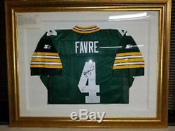 NFL green bay packers Brett Favre Authentic Starter Jersey. Signed & Framed