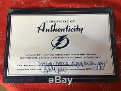 NHL Tampa Bay Lightning Mark Barberio Signed, Certified Camo Jersey Size 56