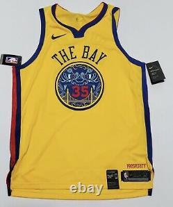 NIKE AEROSWIFT NBA AUTHENTIC Kevin Durant THE BAY GSW Jersey Sz. 52/XL NWT