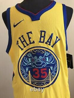 NIKE Authentic Jersey WARRIORS Chinese New Year Stitched 35 DURANT 56 The Bay