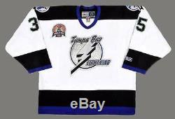 NIKOLAI KHABIBULIN Tampa Bay Lightning 2004 CCM Throwback Away NHL Hockey Jersey