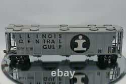 NJ Custom Brass/ O Scale Illinois Central PS2 70-Ton 3-Bay Covered Hopper Boxed