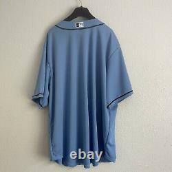 NWT Mens Nike Tampa Bay Rays Jersey in Light Blue- XXL