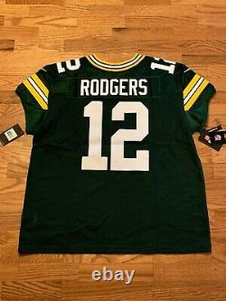 NWT Nike Elite NFL Aaron Rodgers Green Bay Packers Jersey 913569-323 Retail $325