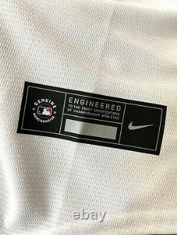NWT Nike Men's Replica Tampa Bay Rays Brandon Lowe Cool Base White Jersey 020