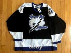 NWT Tampa Bay Lightning Blank CCM Authentic Hockey Jersey Center Ice Size 54