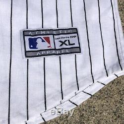 NWT VINTAGE STARTER MLB Tampa Bay Devil Rays Pinstripe Jersey XL White