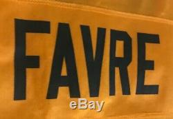 NWT Vintage Reebok Alternative BRETT FAVRE Green Bay Packers Yellow Jersey Large