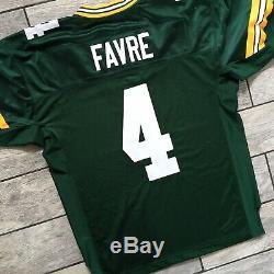 New! 2002 NFL Reebok Authentic Jersey Green Bay Packers Brett Favre Sz. 50 VTG