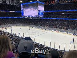 New Jersey Devils @ Tampa Bay Lightning 2 Tickets Club Level Section 228 Row D