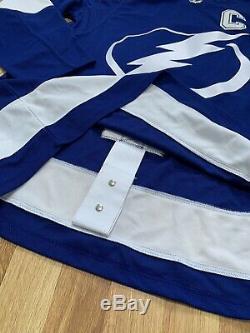 New Men's Adidas Pro Authentic Tampa Bay Lightning Stamkos Jersey Sz 50