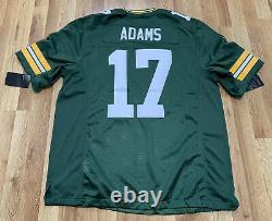 New Nike Green Bay Packers Davante Adams Vapor Limited Jersey 100 Logo Sz XL